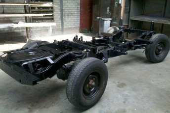 Rollend chassis Defender, reclame, promotie, promocar